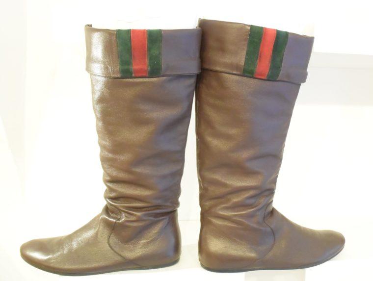 Gucci Stiefel braun Leder 38 -13405