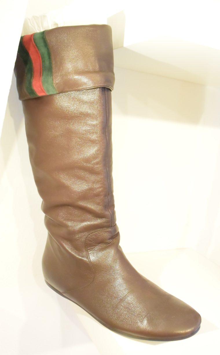 Gucci Stiefel braun Leder 38 -13408