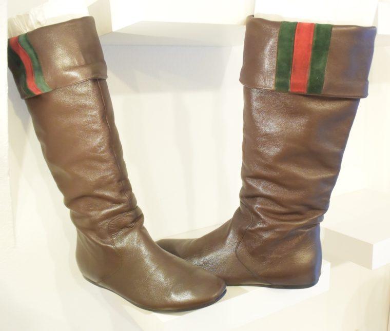 Gucci Stiefel braun Leder 38 -13410