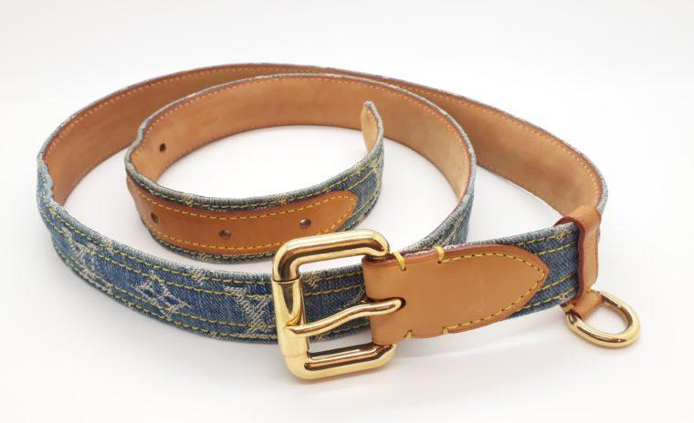 Louis Vuitton Gürtel Denim blau 100cm-0