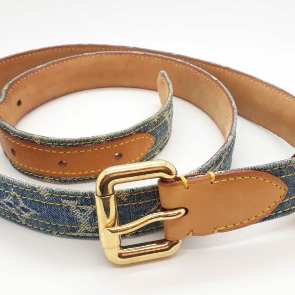 Louis Vuitton Gürtel Denim blau 100cm