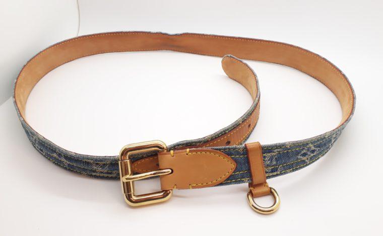 Louis Vuitton Gürtel Denim blau 100cm-13465