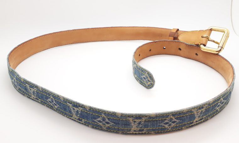 Louis Vuitton Gürtel Denim blau 100cm-13467