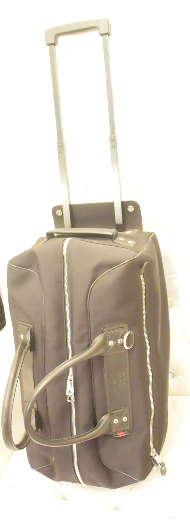 Gucci Reisetasche Trolley Koffer schwarz-13484