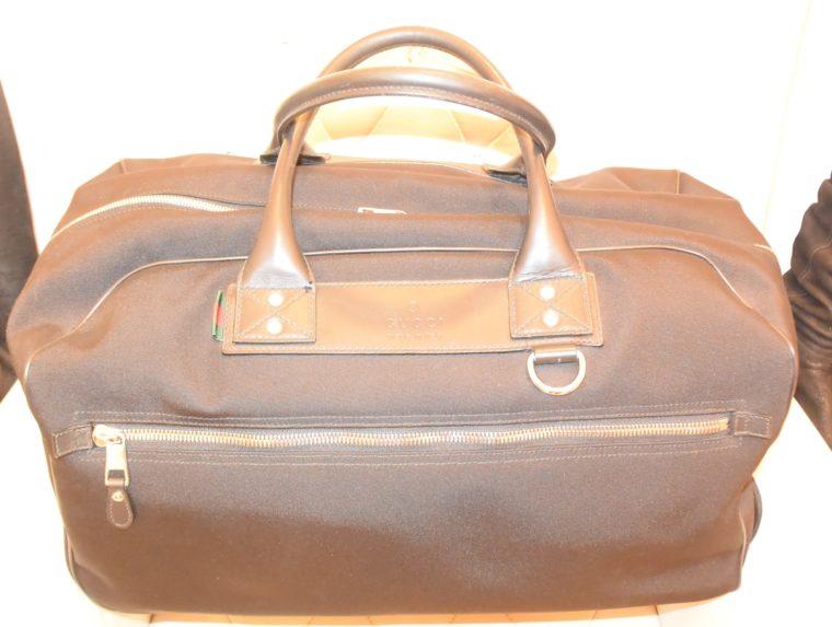 Gucci Reisetasche Trolley Koffer schwarz-13487
