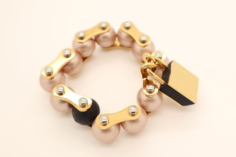 Louis Vuitton Armband Perlen gold-13639