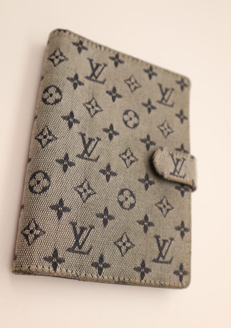 Louis Vuitton Kalender Agenda Pm Mini Lin grau-0