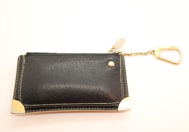 Louis Vuitton Schlüsseletui Suhali Leder schwarz-13826