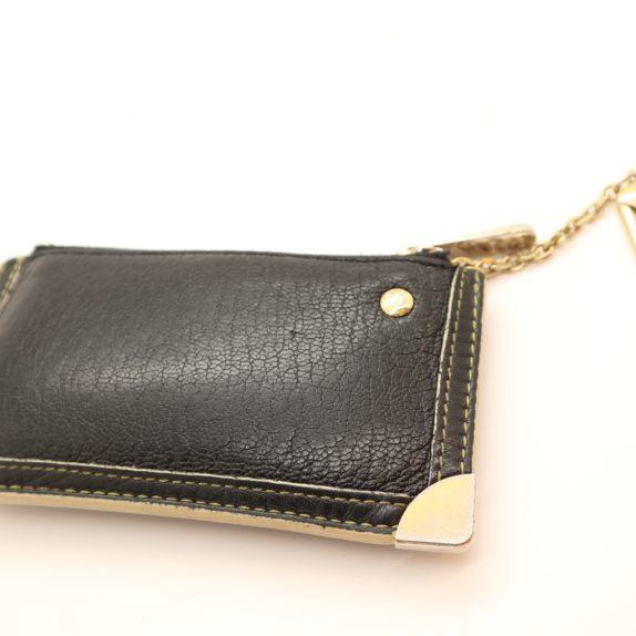 Louis Vuitton Schlüsseletui Suhali Leder schwarz