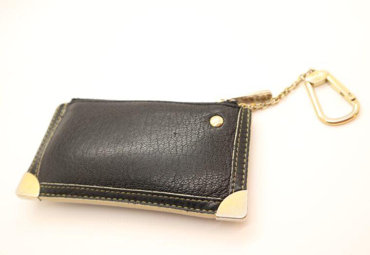 Louis Vuitton Schlüsseletui Suhali Leder schwarz-0