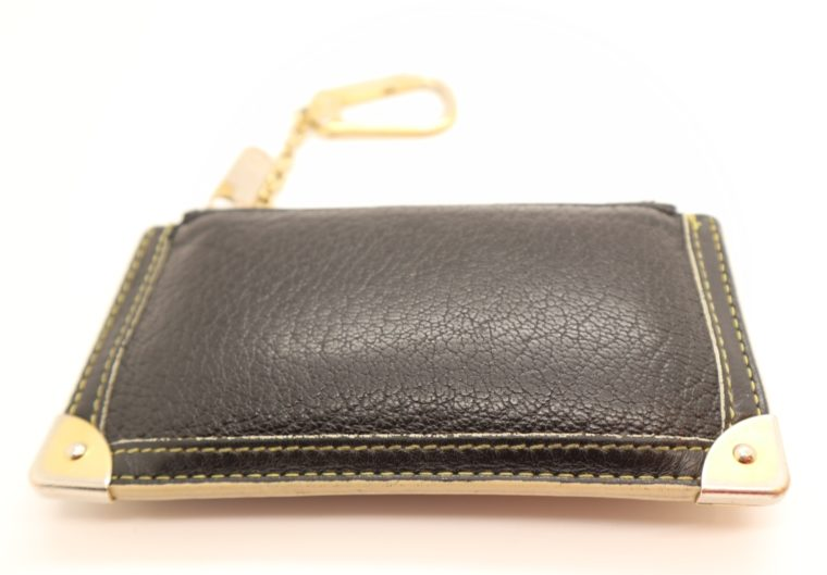 Louis Vuitton Schlüsseletui Suhali Leder schwarz-13829