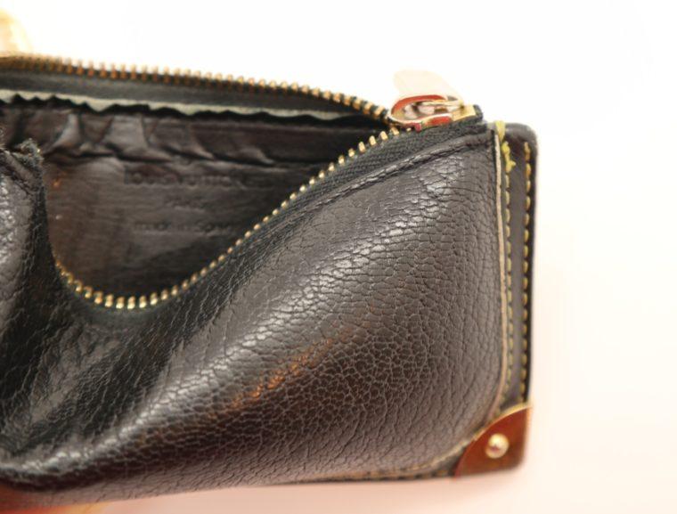 Louis Vuitton Schlüsseletui Suhali Leder schwarz-13831