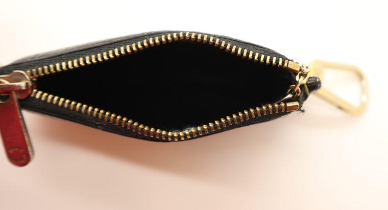Louis Vuitton Schlüsseletui Suhali Leder schwarz-13830