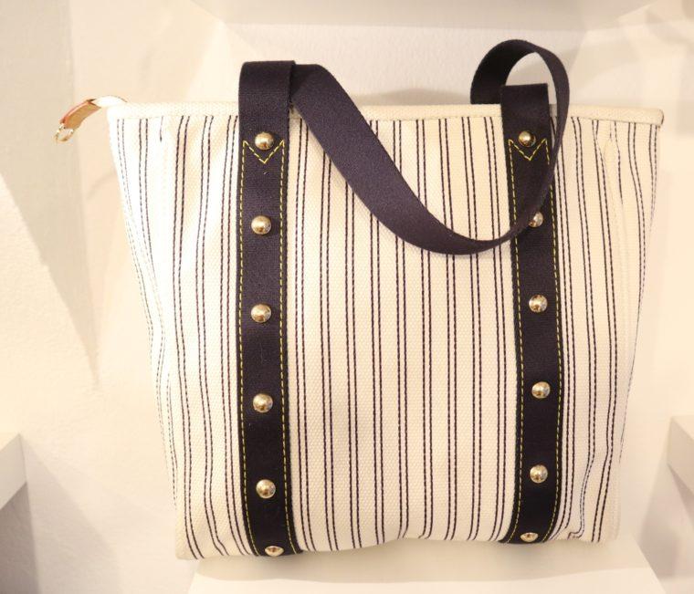 Louis Vuitton Tasche Cabas MM Toile Antigua blau weiß-13838