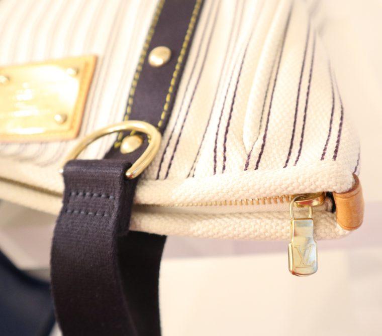 Louis Vuitton Tasche Cabas MM Toile Antigua blau weiß-13839