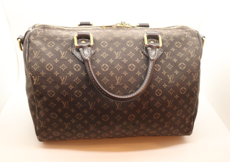 Louis Vuitton Tasche Speedy 30 band. Mini Lin schwarz-13847