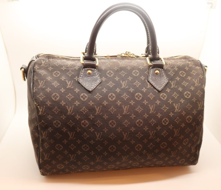 Louis Vuitton Tasche Speedy 30 band. Mini Lin schwarz-13849