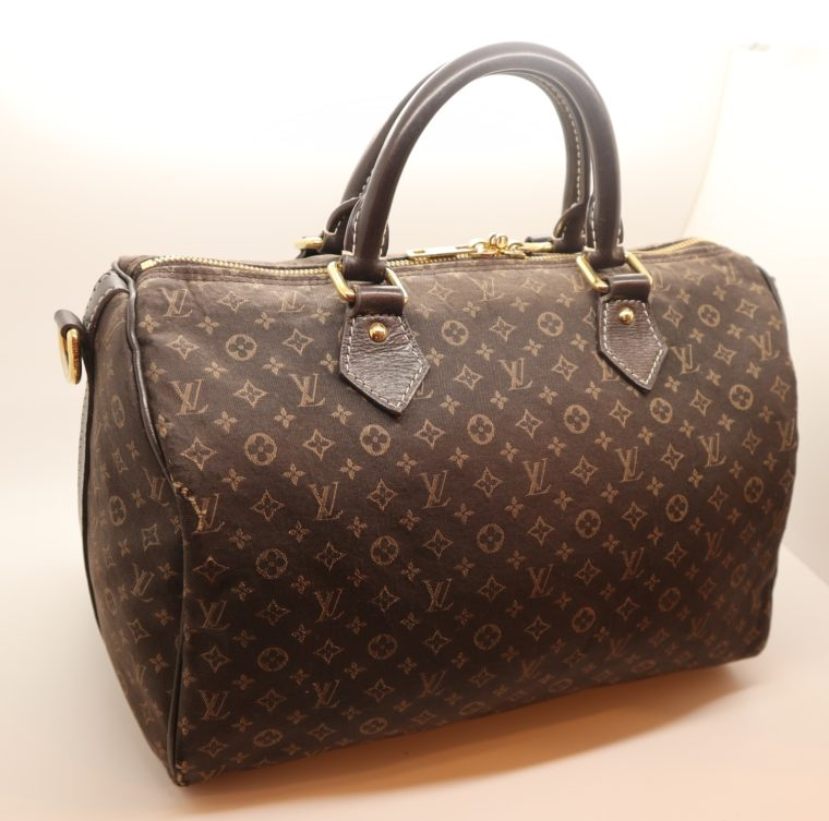 Louis Vuitton Tasche Speedy 30 band. Mini Lin schwarz-0