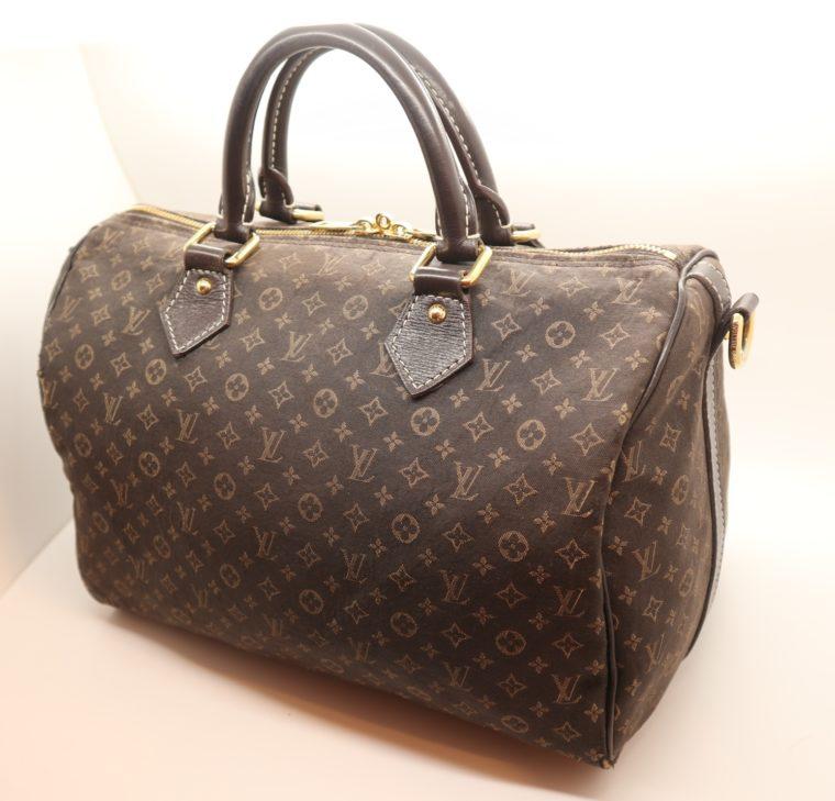 Louis Vuitton Tasche Speedy 30 band. Mini Lin schwarz-13850