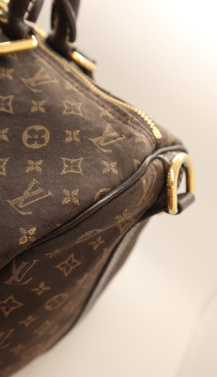 Louis Vuitton Tasche Speedy 30 band. Mini Lin schwarz-13851