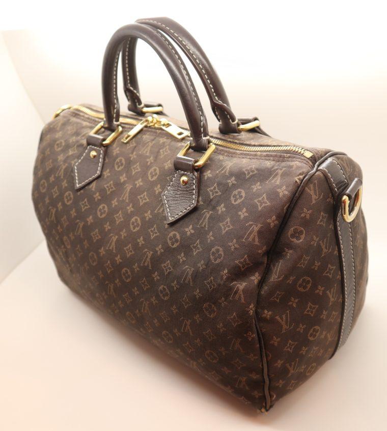 Louis Vuitton Tasche Speedy 30 band. Mini Lin schwarz-13853