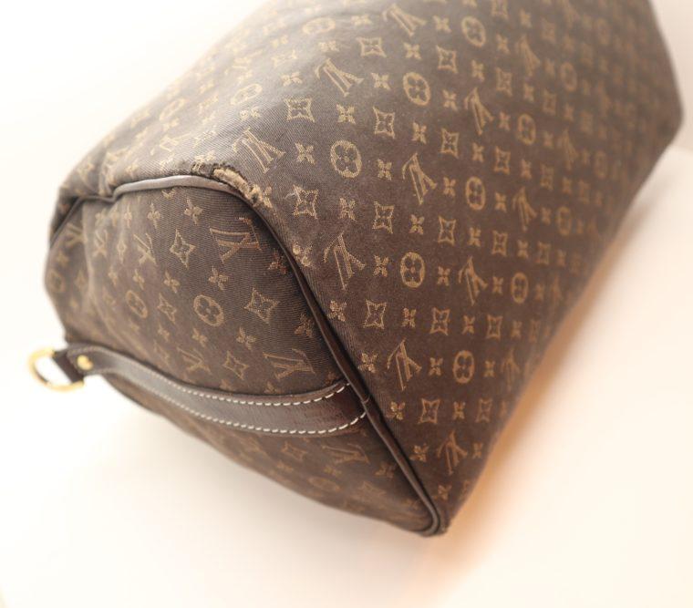 Louis Vuitton Tasche Speedy 30 band. Mini Lin schwarz-13855