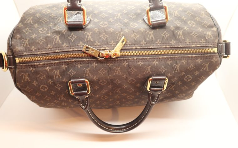 Louis Vuitton Tasche Speedy 30 band. Mini Lin schwarz-13861