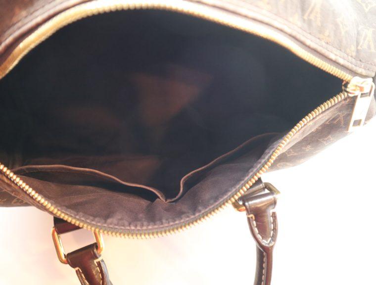 Louis Vuitton Tasche Speedy 30 band. Mini Lin schwarz-13860