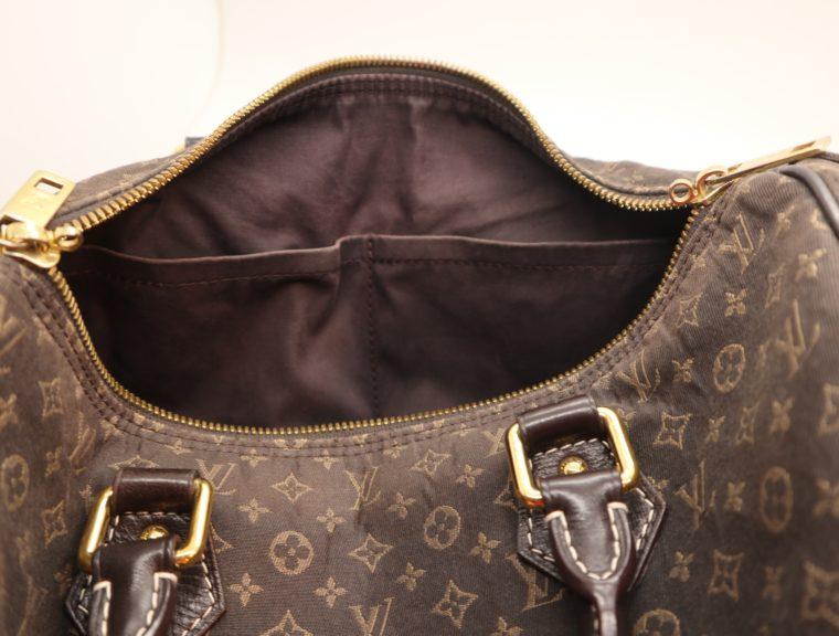 Louis Vuitton Tasche Speedy 30 band. Mini Lin schwarz-13864