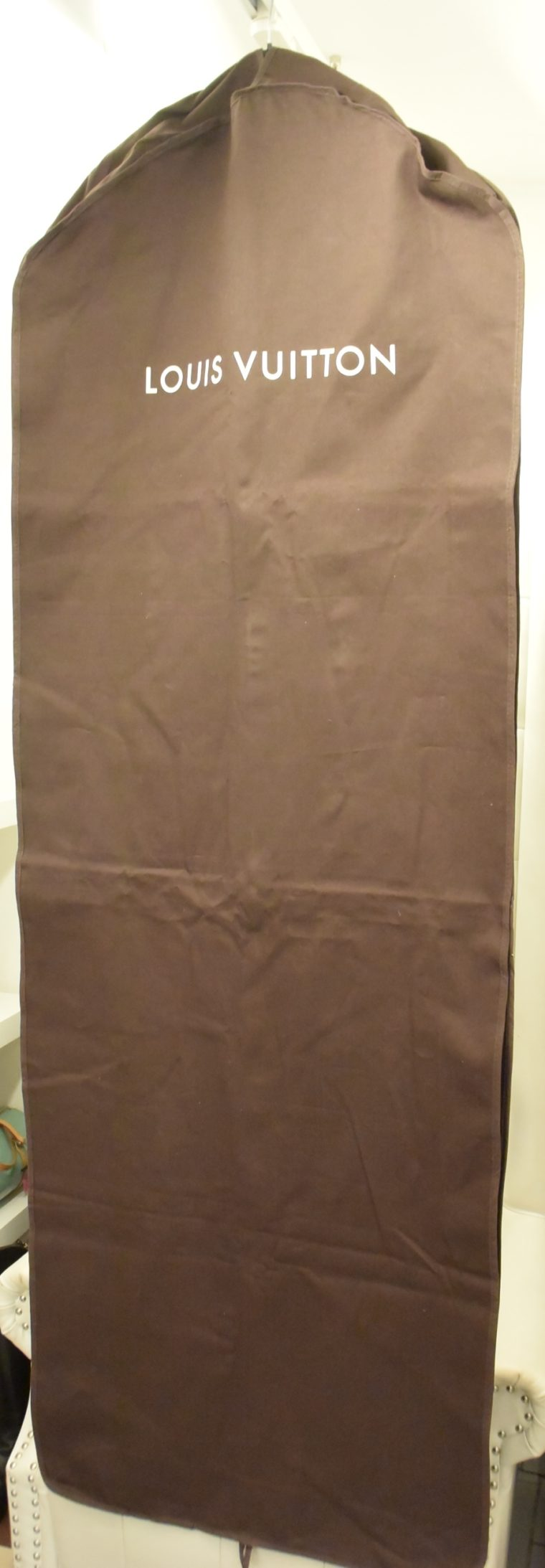 Louis Vuitton Kleiderhülle Kleidersack braun lang-0