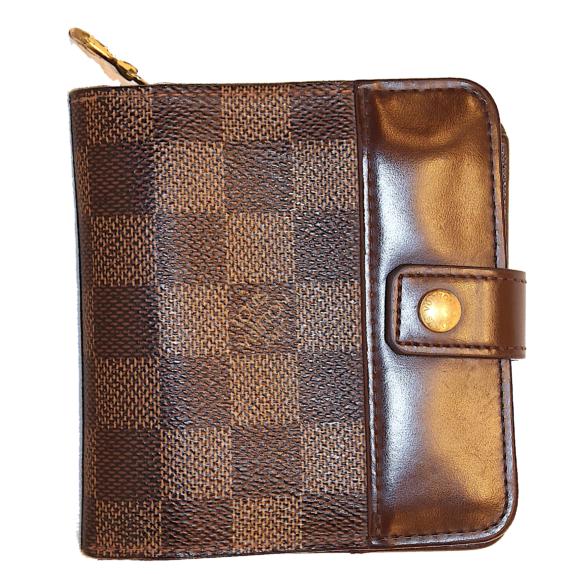 Louis Vuitton Geldbörse compact zippe Damier ebene