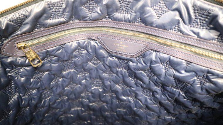 Louis Vuitton Tasche Lockit blau Satin XXL-14787