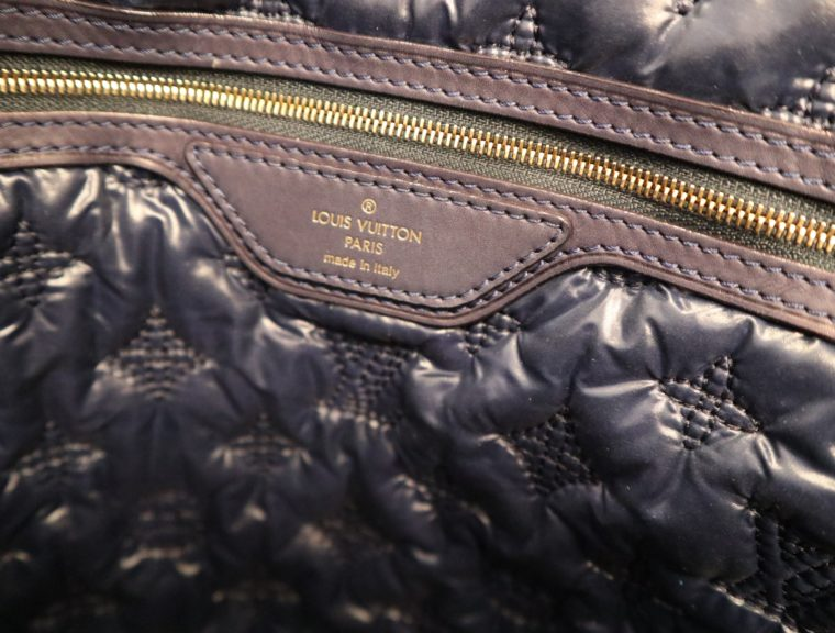 Louis Vuitton Tasche Lockit blau Satin XXL-14788