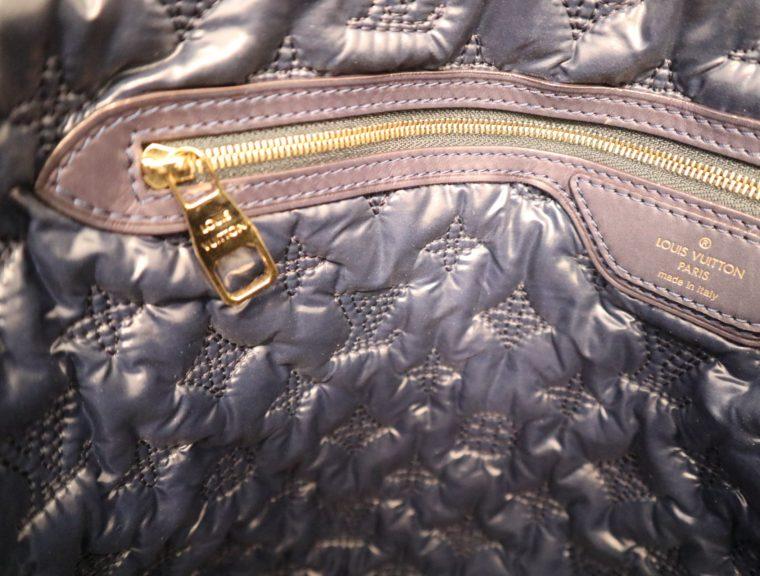 Louis Vuitton Tasche Lockit blau Satin XXL-14789
