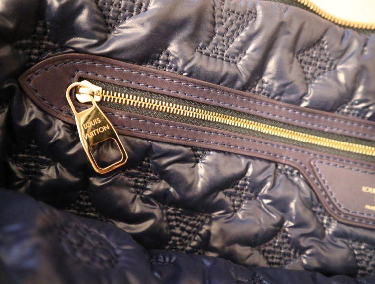Louis Vuitton Tasche Lockit blau Satin XXL-14790