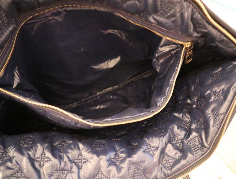 Louis Vuitton Tasche Lockit blau Satin XXL-14793