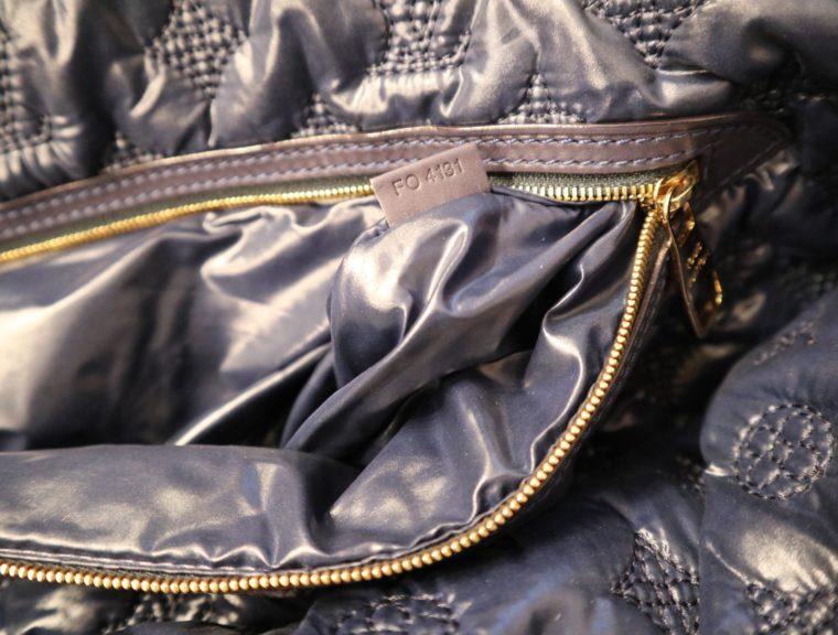 Louis Vuitton Tasche Lockit blau Satin XXL-14796