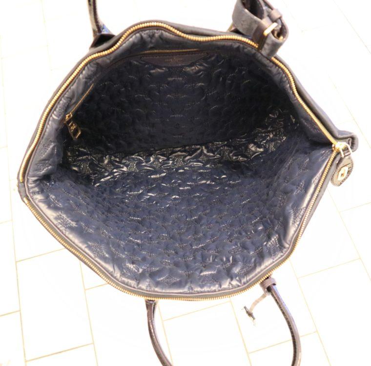 Louis Vuitton Tasche Lockit blau Satin XXL-14794