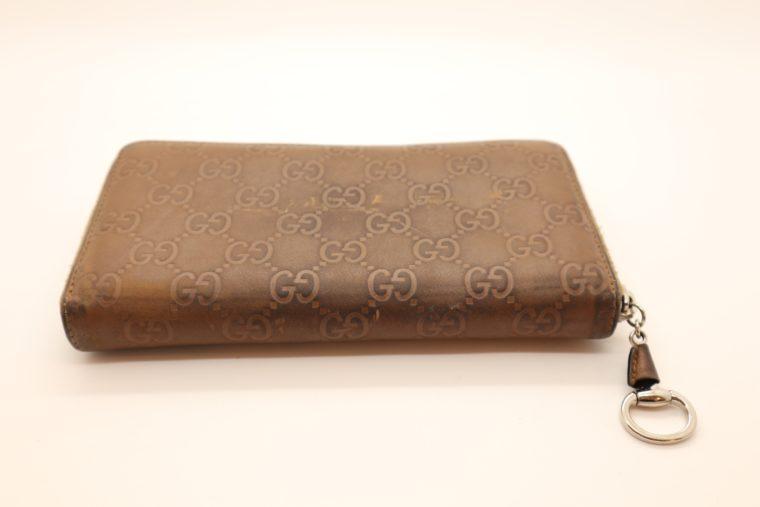 Gucci Geldbörse Leder braun -14877