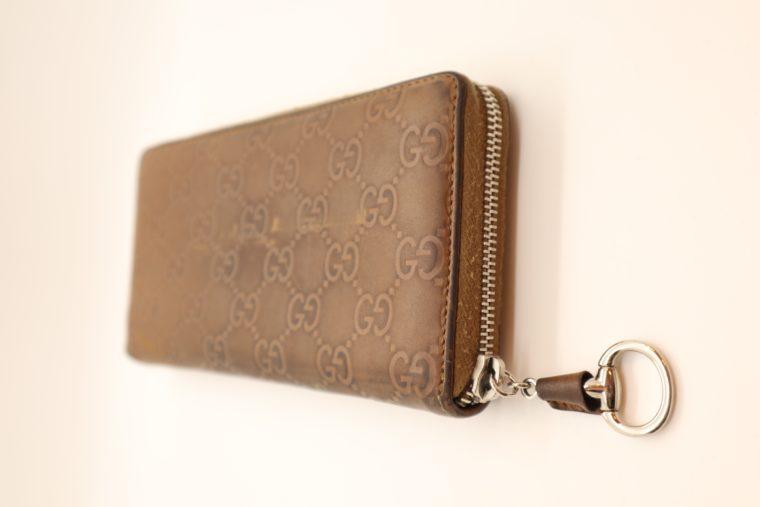 Gucci Geldbörse Leder braun -14881