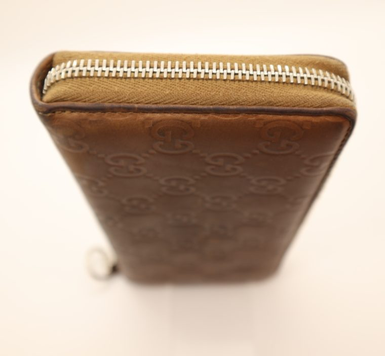 Gucci Geldbörse Leder braun -14885