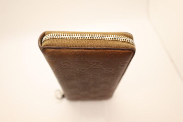 Gucci Geldbörse Leder braun -14884
