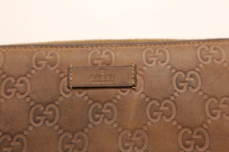 Gucci Geldbörse Leder braun -14891