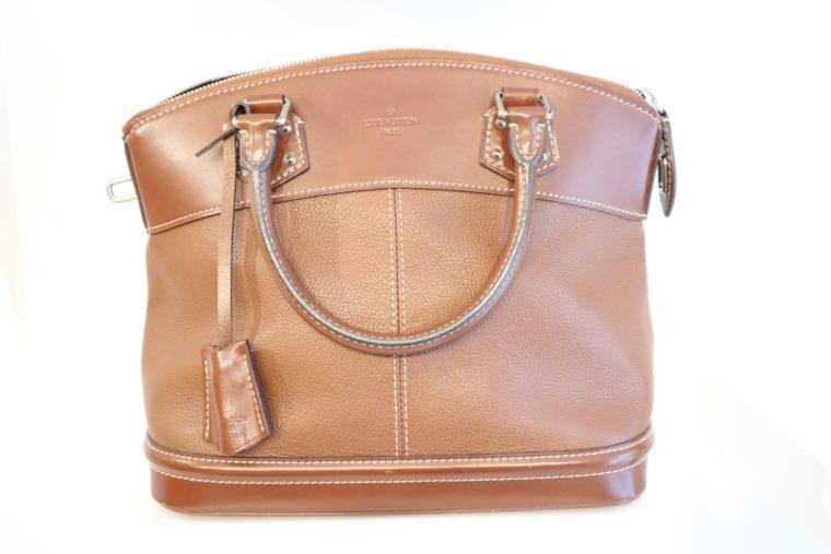 Louis Vuitton Tasche Lockit Lockit PM Suhali Leder braun-14831