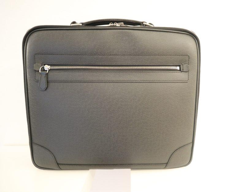 Louis Vuitton Aktentasche Sabana Taiga Leder grau schwarz-14809