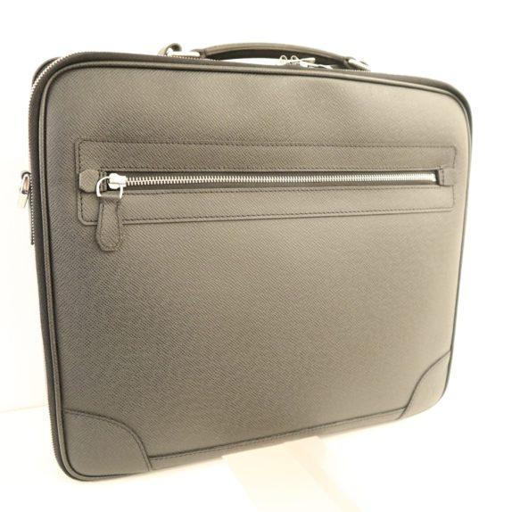 Louis Vuitton Aktentasche Sabana Taiga Leder grau schwarz