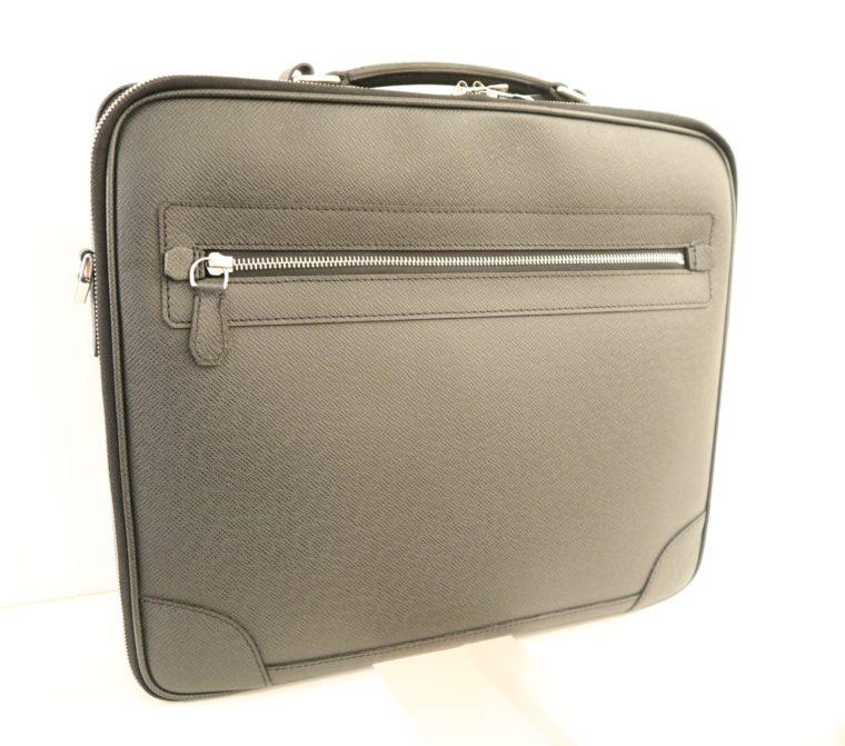 Louis Vuitton Aktentasche Sabana Taiga Leder grau schwarz-0