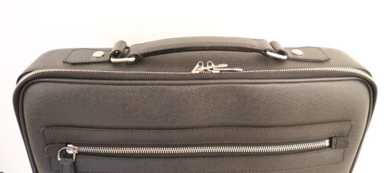 Louis Vuitton Aktentasche Sabana Taiga Leder grau schwarz-14808