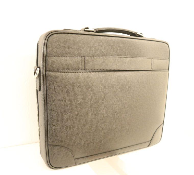 Louis Vuitton Aktentasche Sabana Taiga Leder grau schwarz-14810