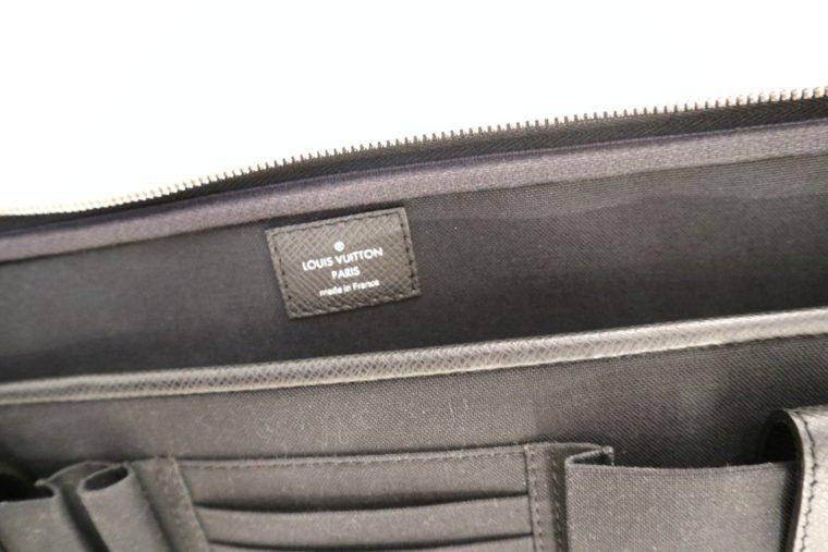 Louis Vuitton Aktentasche Sabana Taiga Leder grau schwarz-14818
